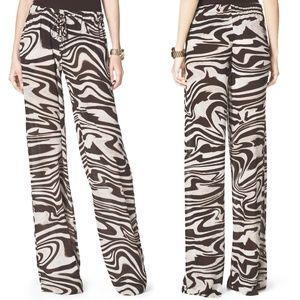 MICHAEL KORS Animal Print Wide Leg Drawstring Pant